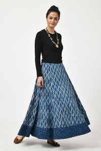 Dabu Indigo Long Skirt