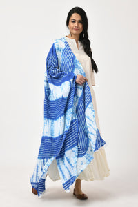Blue Bandhej Cotton Dupatta