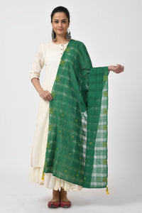 Embroidered Dark Green Dupatta