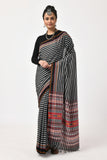 Extra Weft Black & Grey Saree