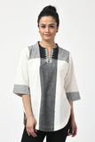 Ivory Hand Woven Cotton Top