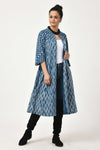 Dabu Indigo Long Jacket