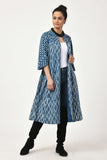 Dabu Indigo Trench Jacket