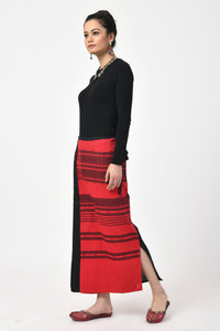 Extra weft Black and Red Skirt