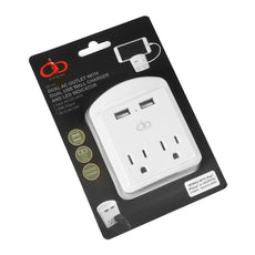 Dual USB AC Outlet Wall Charger
