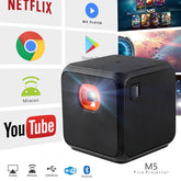 XPRIT Portable Smart Cube Projector with Wi-Fi & Bluetooth, 50 ANSI, Android 7.1