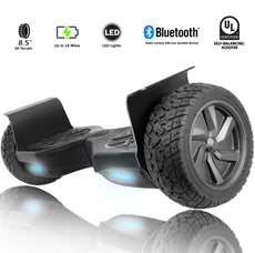 "Xprit 8.5"" Black Wheel Hoverboard with Bluetooth"