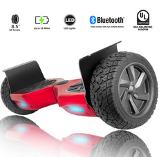 "Xprit Red 8.5"" Wheel All Terrain Hoverbard with Bluetooth"