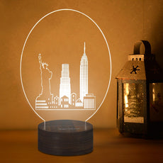 3D Acrylic Wooden Night Light