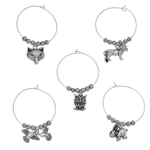 Animal Wine Glass Charms