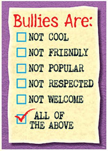 ARGUS?« Poster - Bullies Are: Not Cool