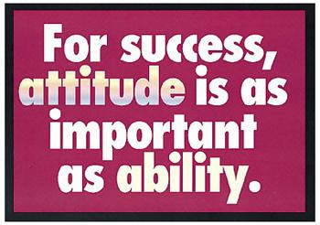 ARGUS?« Poster - For Success, Attitude Is