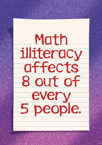 ARGUS?« Poster - Math Illiteracy Affects