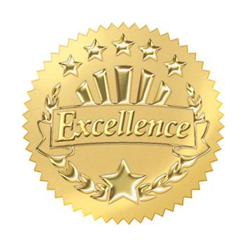 Award Seals Stickers - Excellence (Gold)