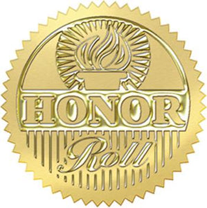 Award Seals Stickers - Honor Roll (Gold)