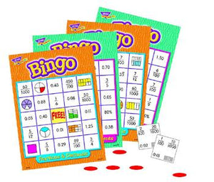 Bingo Game - Fractions, Decimals, & Percents