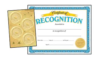 Certificates & Award Seals Combo Pack - Recognition (Congratulations Seals)