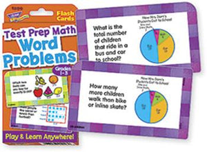 Challenge Cards?« - Word Problems Test Prep Math, Grades 1-3