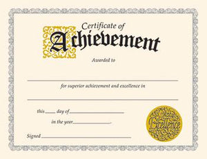 Classic Certificates - Certificate Of Achievement