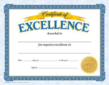 Classic Certificates - Certificate Of Excellence