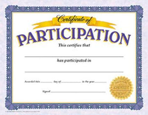 Classic Certificates - Certificate Of Participation
