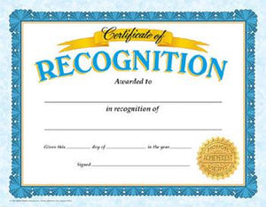 Classic Certificates - Certificate Of Recognition