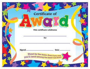 Colorful Classics Certificates - Certificate Of Award