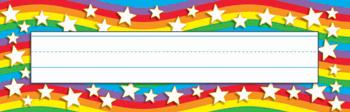 Desk Toppers?« Name Plates - Star Rainbow