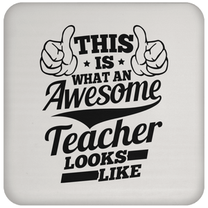 Drinkware - Awesome Teacher Coaster