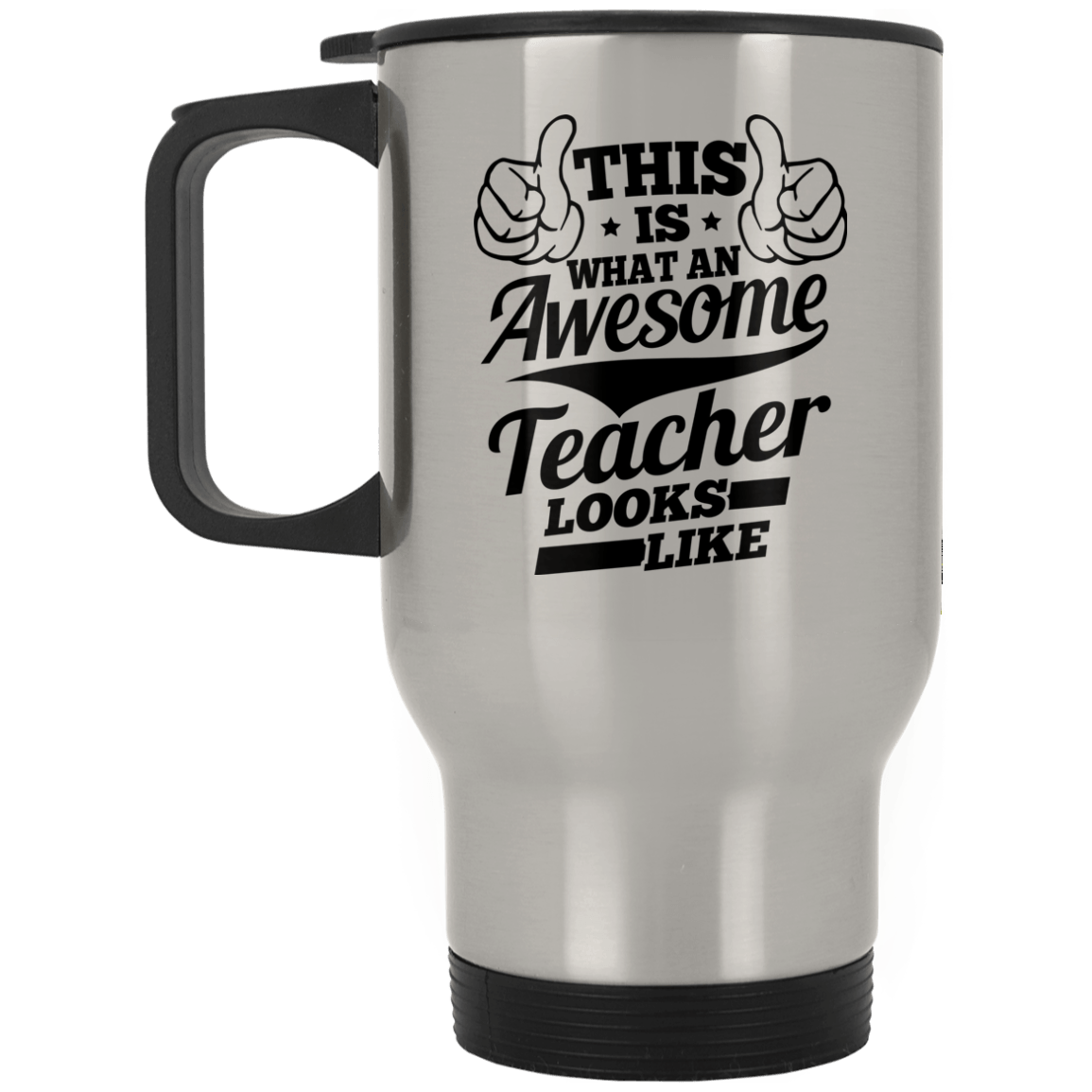 Drinkware - Awesome Teacher Silver Stainless Travel Mug