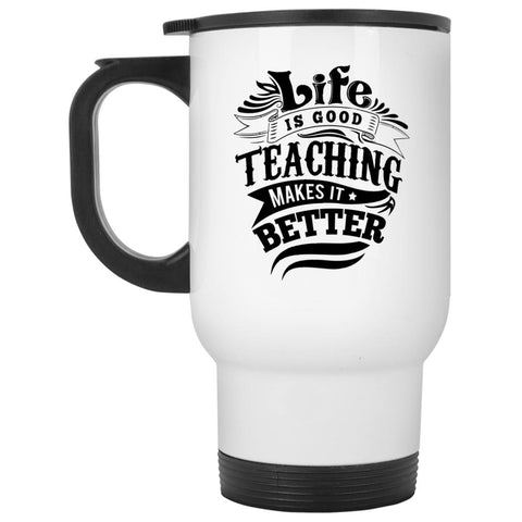 Drinkware - Life Is Good White Travel Mug