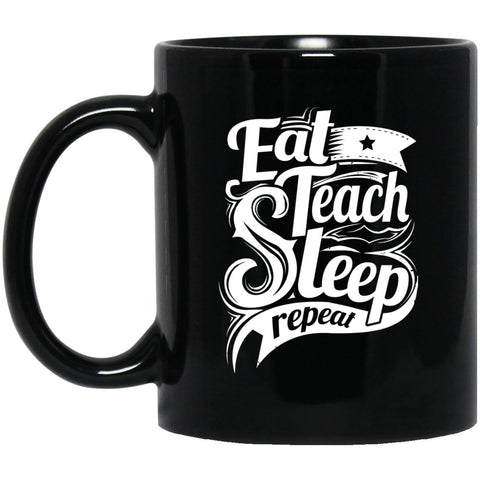 Drinkware - Teach Repeat 11 Oz. Black Mug
