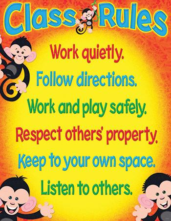 Learning Chart - Class Rules Monkey Mischief?«