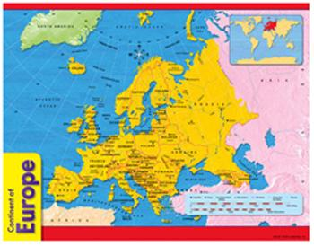 Learning Chart - Continent Of Europe