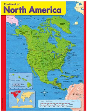 Learning Chart - Continent Of North America