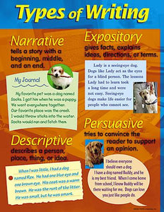 Learning Chart - Types Of Writing