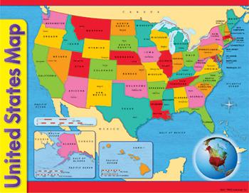 Learning Chart - United States Map