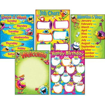 Learning Charts Combo Pack - Classroom Basics Frog-tastic!?«