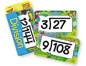 Pocket Flash Cards - Division 0-12