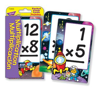 Pocket Flash Cards - Multiplication/Multiplicaci??n (EN/SP)