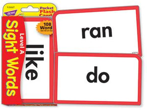 Pocket Flash Cards - Sight Words ?Çô Level A