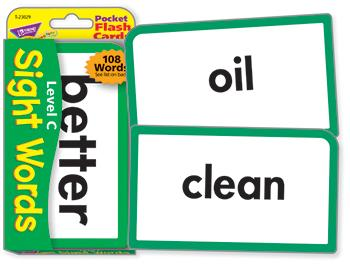 Pocket Flash Cards - Sight Words ?Çô Level C