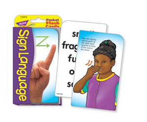 Pocket Flash Cards - Sign Language