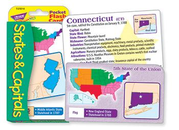 Pocket Flash Cards - States & Capitals