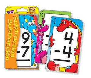 Pocket Flash Cards - Subtraction/Sustracci??n (EN/SP)