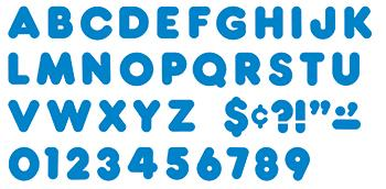 Ready Letters?« - Blue 4-Inch Casual Uppercase