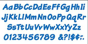 Ready Letters?« - Blue 4-Inch Italic Uppercase/Lowercase Combo Pack (EN/SP)