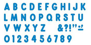 Ready Letters?« - Blue 7-Inch Billboard Uppercase (EN/SP)