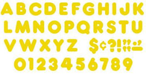 Ready Letters?« - Gold 2-Inch Casual Uppercase