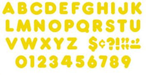 Ready Letters?« - Gold 4-Inch Casual Uppercase